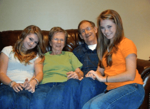 Anna Daley, Fran, Jim, and Emily Esleck