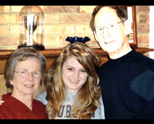 Jim and Fran with their Granddaughter Anna Daley